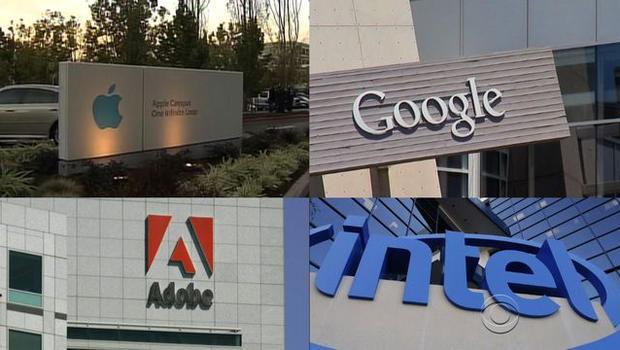 Apple, Google, Intel y Adobe acuerdan pagar 325 millones de dólares a sus trabajadores