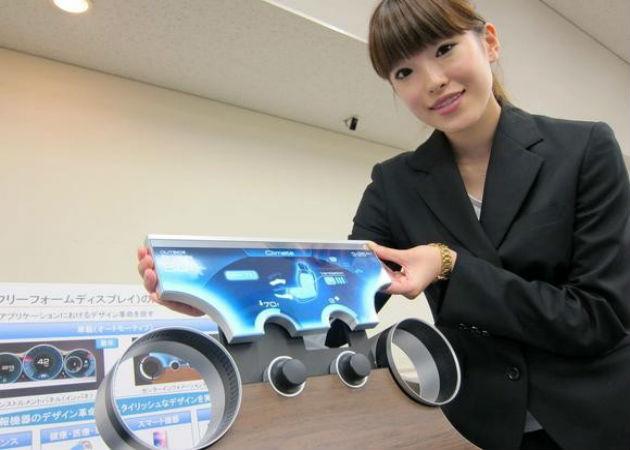 Sharp desarrolla una tecnología para que las pantallas puedan molderase de cualquier forma