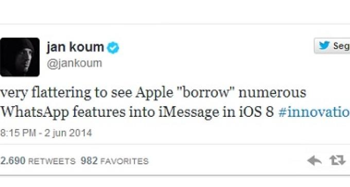 ¿Ha copiado el iOS 8 de Apple las características de WhatsApp?