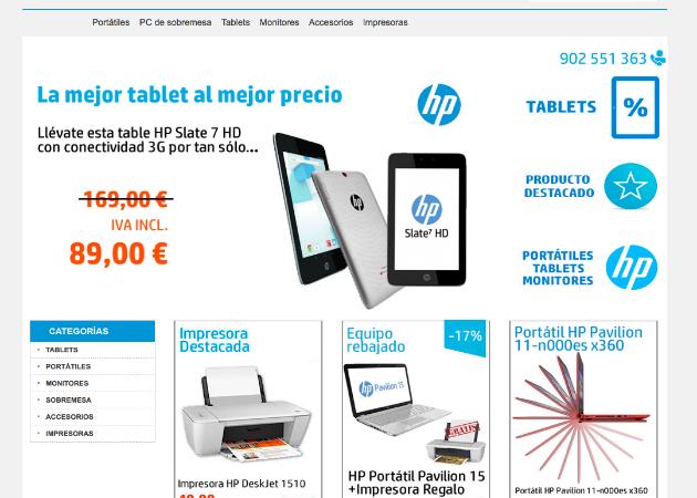HP España abre una tienda oficial en eBay