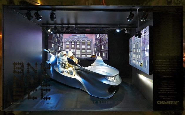 Christie Lights Up Barneys Holiday Windows - Virtual Sleigh Ride (mr) (1)