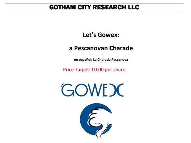 Informe Gotham City GOWEX1