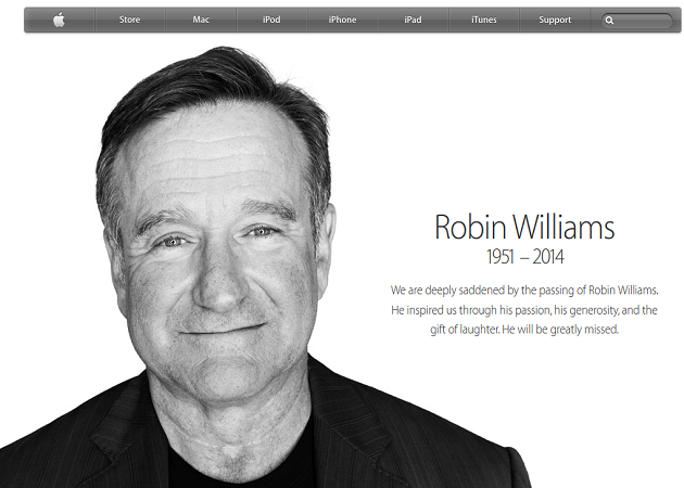 Apple rinde su particular homenaje al actor Robin Williams