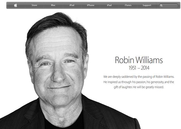 Apple rinde su particular homenaje al actor Robin Williams