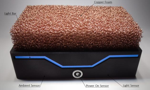 Un PC sin ventilador utiliza una espuma de cobre para su refigeración