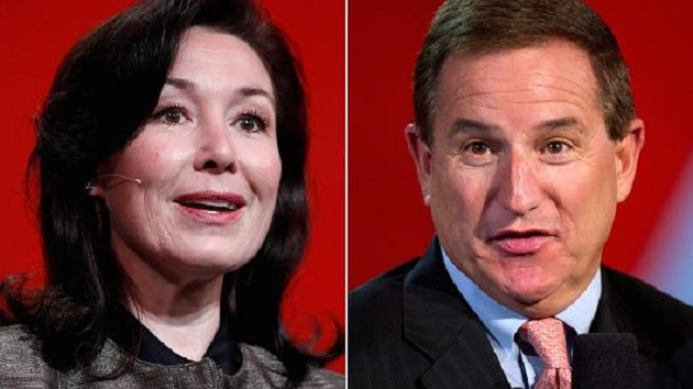 Safra Catz and Mark Hurd