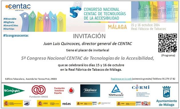 CENTAC dedica su próximo congreso a las tecnologías accesibles como motor económico y social