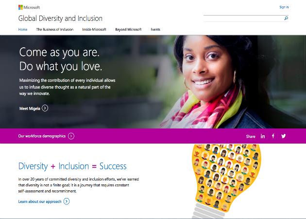 Las mujeres constituyen el 29% de la fuerza laboral de Microsoft