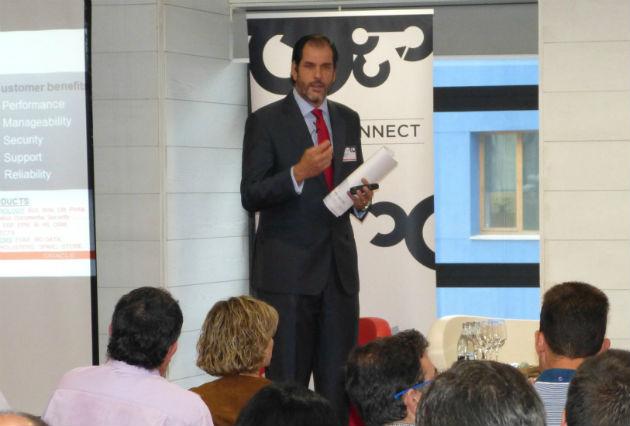 Sebastián Rico durante el evento