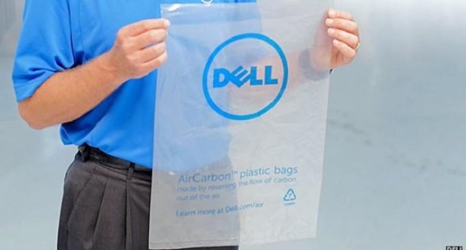 Dell usa bolsas 'de plástico' creadas a partir de flatulencias de vaca