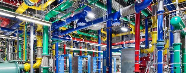 centro de datos google tubos