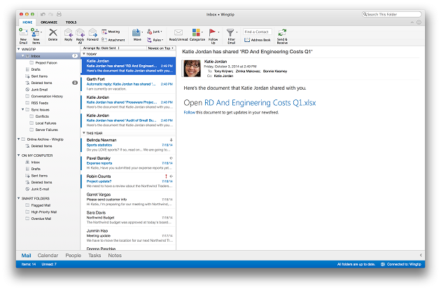 El nuevo Outlook para Mac, ya disponible para clientes de Office 365