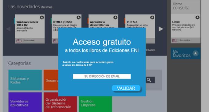 Ediciones ENI da acceso gratis a todos sus libros IT durante tres días