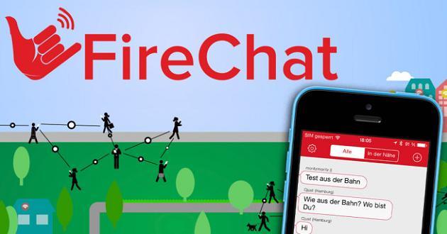 Firechat, la app para empresas que funciona sin wifi ni datos