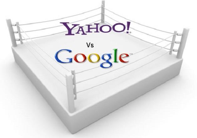 Google pierde mientras que Yahoo, gana