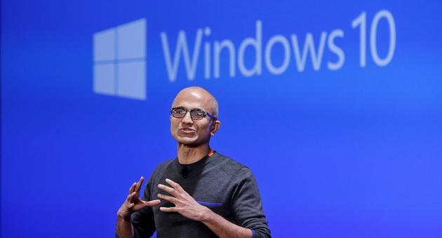 Microsoft Nadella Windows 10