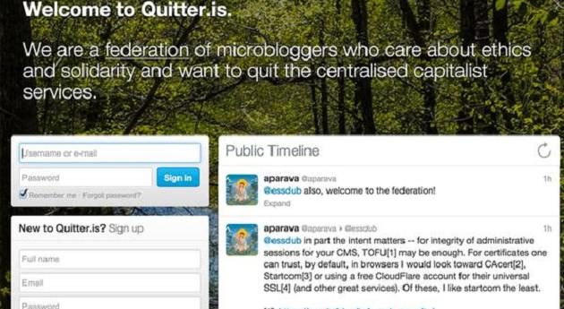 Quitter es la alternativa de los blogueros a Twitter