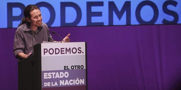 Pablo Iglesias, líder de Podemos, apuesta por el software libre en la Administración