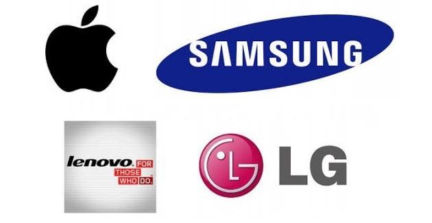 Apple Samsung Lenovo LG
