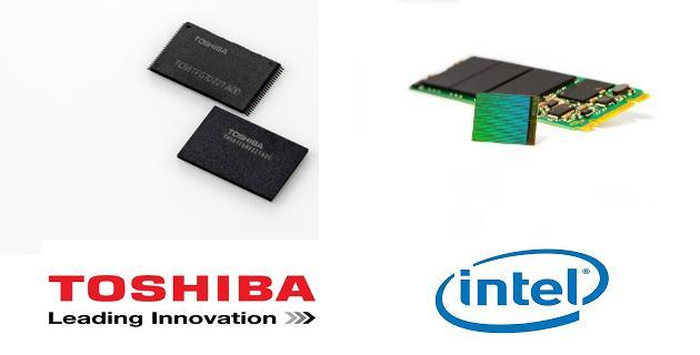 Intel y Toshiba memorias 3D