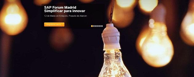 "Últimos días para apuntarte al evento SAP Forum 2015: ""Simplificar para Innovar"""