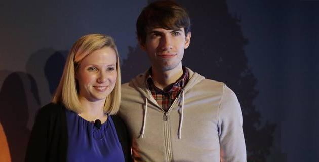 David Karp con CEO Yahoo Marissa Mayer
