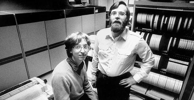 Microsoft 40 años Bill Gates y Paul Allen