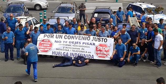 Trabajadores Movistar Telefónica huelga