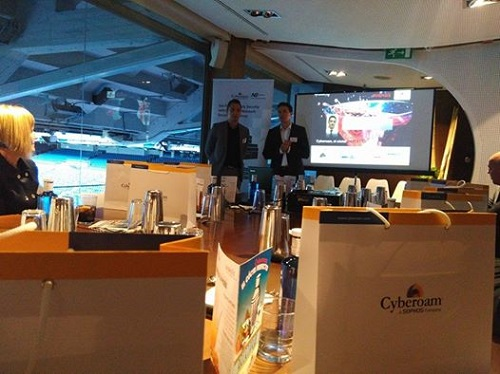 Avansis y Cyberoam celebran un encuentro en el Real Café Bernabéu