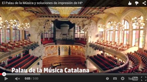 ¿Para qué va a usar el Palau de la Música los servicios de impresión gestionada?