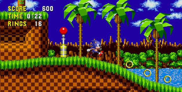Sonic el erizo Mega Drive