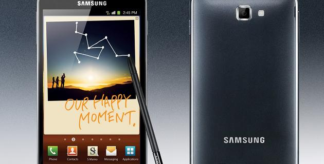 Samsung Galaxy Note agosto