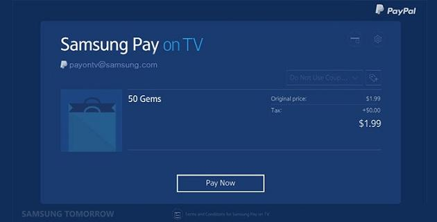 Samsung Pay en Smart TV