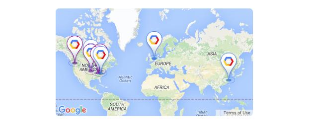 Google datacenters mapa