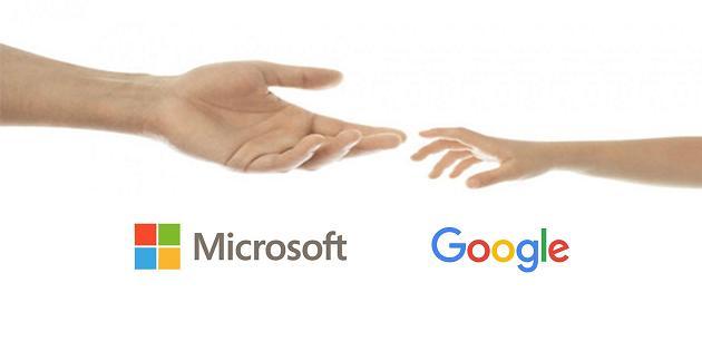 Google y Microsoft paces patentes