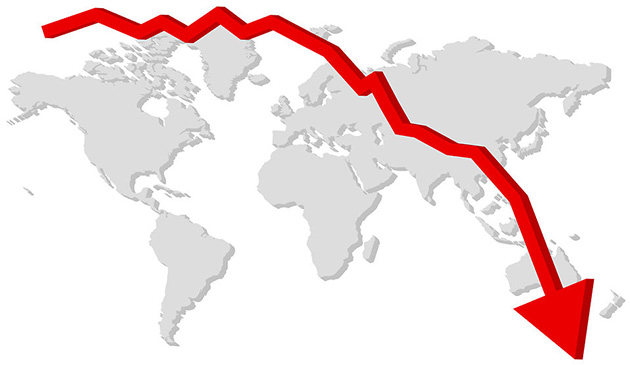 Gráfico de caída de ventas