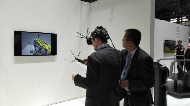 El dispositivo de realidad mezclada de Canon