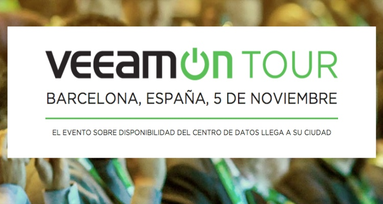 VeeamOn Tour 2015 llega a Barcelona el 5 de noviembre