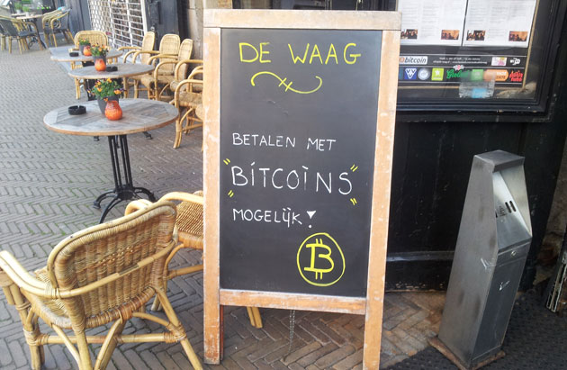 Pago en Bitcoins