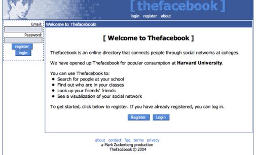 Facebook cumple 12 años: imágenes de su evolución