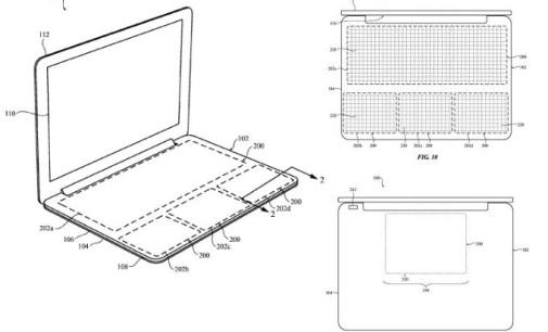 Apple registra una patente para portátiles sin teclado