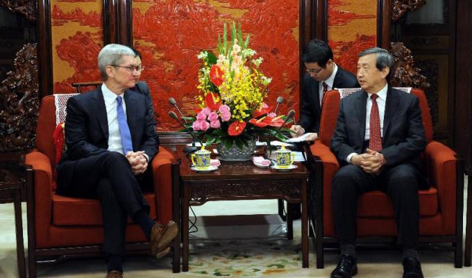 Apple Tim Cook viajará a China para solucionar la situación