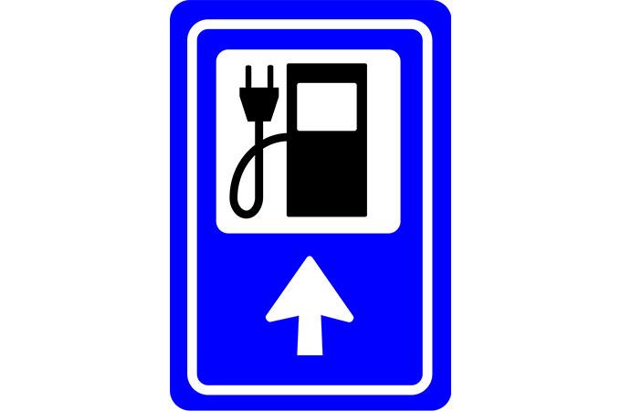 Señal electrolineras