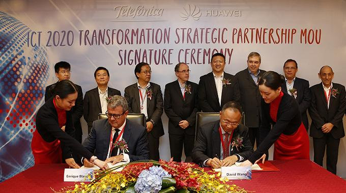 Huawei y Telefónica colaborarán en innovación del 5G y NG-RAN