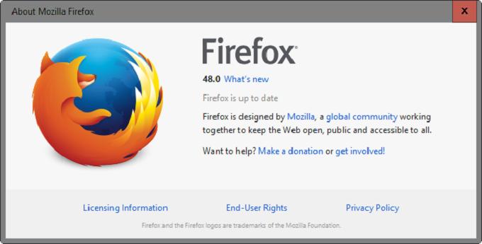 multiproceso de Firefox 48