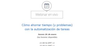 """Webinar gratuito: """"Automatización de tareas para ahorrar horas de trabajo"""""""