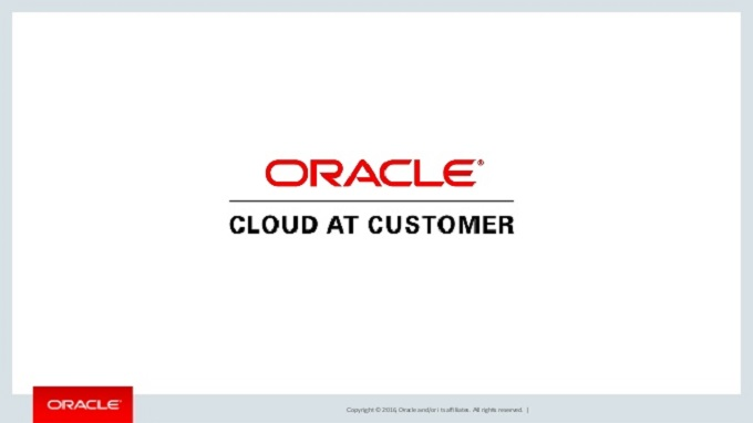 Oracle Cloud at Customer