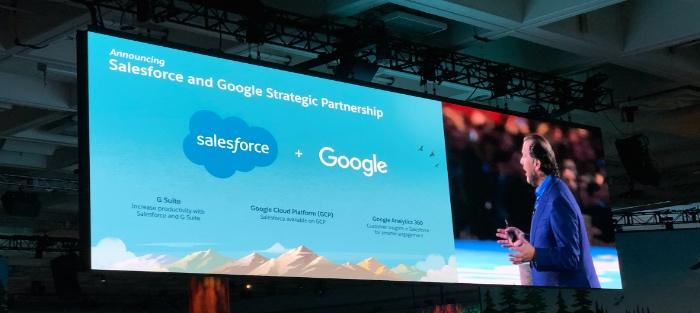 Salesforce y Google se alían para mejorar la productividad de sus clientes