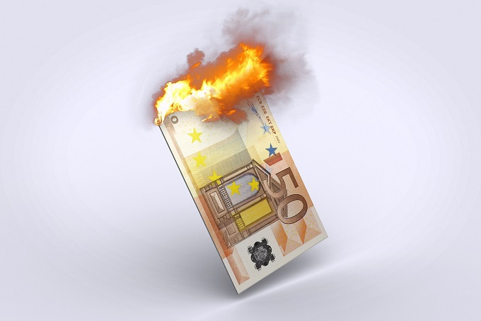 billete ardiendo