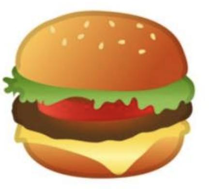 Emoji hamburguesa google